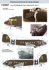 Foxbot Decals 1/72 DOUGLAS C-47 PIN-UP ART Biscuit Bomber & Belle of Birmingham