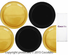 Coco&Bo 5 x Magical Wizarding Gold & Black Party Plates Harry Potter Theme