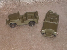 Two Midgetoy Army Willys Jeeps