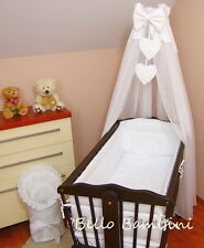 Canopy drape-to FIT BABY OSCILLANTE Cristalle / VIMINI PANIERE / CRADDLE + FLOOR STANDING POLE