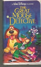 RARE The Great Mouse Detective (VHS, 1992) DISNEY BLACK DIAMOND CLASSIC