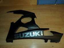 Suzuki GSXR 1000 05 06 outer left front fairing bellypan stealth black K5 K6
