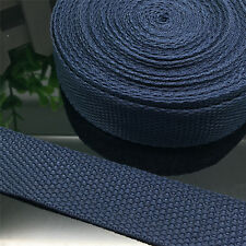 New 5 Yards Length 1 Inch (25mm) Width Navy Blue Nylon Webbing Strapping P03