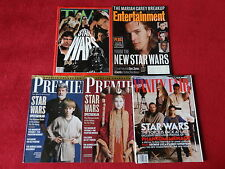 Star Wars Collector Magazine Lot of 5 Premiere Vanity Fair Entertaiment Weekly