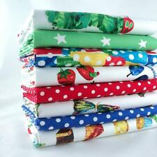 8 X FQ BUNDLE - BRIGHTS & MULTI -   VERY HUNGRY CATERPILLAR 100% COTTON FABRIC