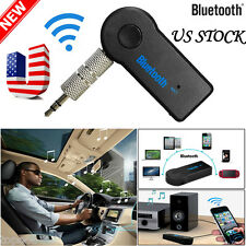 US Wireless Bluetooth 3.5mm AUX Audio Stereo Music Home Car Receiver Adapter Mic