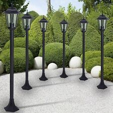 Outdoor Lamp Post Set 6 Garden Porch Lights Antique Patio Driveway Lighting Old