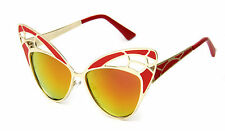 Butterfly Large Sunglasses Coral Mirror Oversized Fashion Designer Trend