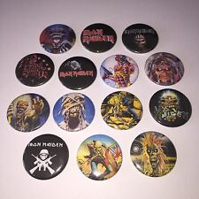 14 Iron Maiden button badges Eddie Powerslave Shoot that focker Run to the Hills