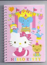 Sanrio Hello Kitty Spiral Notebook Circus With Stickers