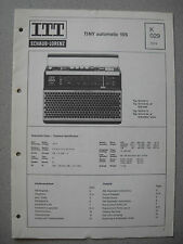ITT/Schaub Lorenz Tiny automatic 105 Service Manual, K029