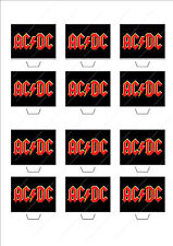 Novelty ACDC AC/DC Rock Band Cake Cupcake Topper Edible Wafer Birthday Novelty