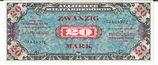 GERMANY BANKNOTE 20 MARK P195d 1944 AU UNC Russian Zone