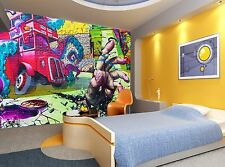 Graffiti -London Wall Mural Photo Wallpaper GIANT DECOR Paper Poster Free Paste