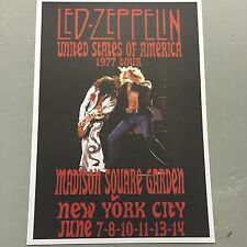 LED ZEPPELIN - CONCERT POSTER M.S.G. NEW YORK CITY JUNE 1977 (A3 SIZE)