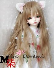 Bjd Doll Wig 1/4 7-8 SD MSD AOD DZ LUTS Dollfie BROWN Toy Head Hair