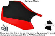 BLACK & RED LEATHER CUSTOM FITS APRILIA RSV4 R 1000 09-15 RIDER SEAT COVER