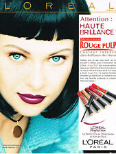 PUBLICITE ADVERTISING 114  1997  L'OREAL maquillage  rouge à lèvres ROUGE PULP