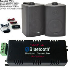AMPLIFICATORE Wireless/bluetooth & 2x 100w NERO PARETE ALTOPARLANTI – sistema di amp