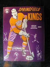 Vintage April 3, 1971 Providence Reds at Springfield Kings AHL Program