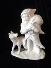 C-0174 Ceramic Bisque U Paint Old World Victorian Santa with Wolf by his side