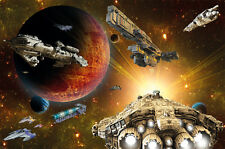 Spaceship in the universe photo wallpaper - XXL wall decoration children room