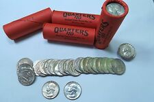(1) 90% Silver AU/BU Washington Quarter Roll // OBW SEALED // Mixed Dates/Mints