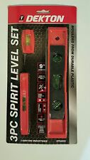 3 Small SPIRIT LEVELS LEVEL MAGNETIC BUILDERS TORPEDO Plastic BRICK LINE 9""