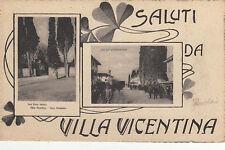 SA0202 - VILLA VICENTINA UDINE - 2 IMMAGINI IN RIQUADRO SALUTI DA NON VIAGGIATA
