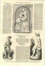 1870 Sculpture Dina Consoling Hettie In Prison Halse Crittenden Fj Williamson
