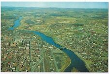AIR VIEW OF SHERBROOKE QUEBEC CANADA POSTCARD  # 16921-B