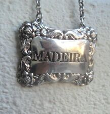 Georgian Sterling Silver Madeira Decanter or Wine Label h/m 1826 Edinburgh