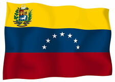 Sticker decal vinyl decals national flag car ensign bumper venezuela