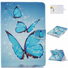 Blue Butterfly Magnetic Pattern Leather Smart Cover Case for iPad Air 2 9.7 B3