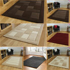 Modern Contemporary Quality Thick Beige Brown Cream Red Grey Rug in Various Size