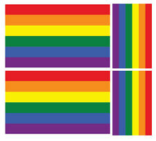 4 X RAINBOW PRIDE FLAG GAY LGBT VINYL CAR VAN IPAD LAPTOP STICKER