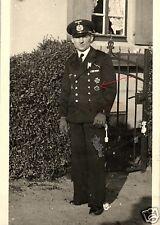 9603/photo originale 9x13cm, officier, sous-marin conducteur vétéran wk I, Hildesheim