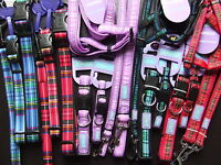 ANCOL HEM & BOO DOG & CO NYLON TARTAN COLLAR or LEAD or HARNESS NUTS ABOUT MUTTS
