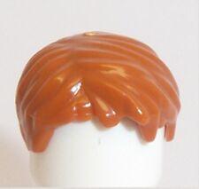 Lego Short Boy Wig Hair x 1 Dark Orange for Minifigure