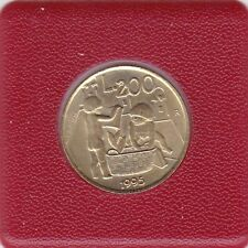 200 lire San Marino 1995 bambini MOLLA playing Childrens and feather Quills