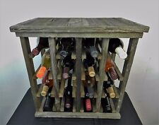 Free Standing Rustic Wine Rack Made of Historic Pennsylvania Barn Wood Handmade