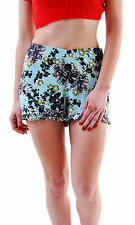 Free People Women's Fiona Solid Flutter Short  Green Size 4 RRP £49 BCF66