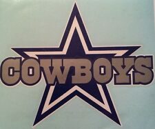 "Dallas Cowboy Decal Vinyl NFL 6.5""x8.0"" Sticker. **FREE SHIPPING**"