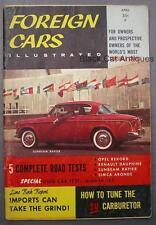 Original Vintage Foreign Cars Illustrated Magazine Volume 1 No. 2 April 1958