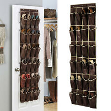 24 Pockets Home Over The Door Hanging Organizer Holder Storage Rack Closet Shoes