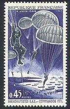 France 1969 Parachutes/WWII/Boats/D-Day/D-Day Landings/SAS/Commandos 1v (n23241)