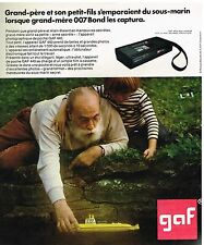 Publicité Advertising 1974 Appareil Photo de poche GAF 440