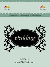 DIXI CRAFT -  Cutting & Embossing Die - TAG WEDDING DCMD0012 - 10,3×6,8cm