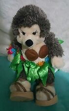 "Build a bear Hedgehog wearing Hula Girl Outfit (skirt, bracelet, shoes) 19""(129)"