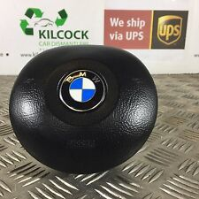 GENUINE BMW E39 E46 ROUND STEERING WHEEL AIRBAG BLACK 33675789102T FAST POSTAGE